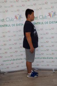 Edi are 12 ani și a reușit să slăbească 19 kg-