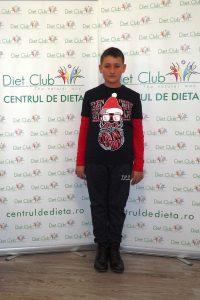 Edi are 12 ani și a reușit să slăbească 19 kg–